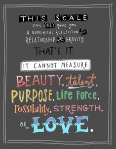 scale does not define beauty
